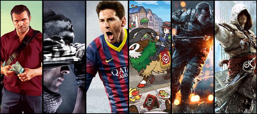 Meilleures ventes jeux-vidéo 2013
